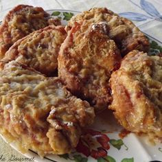 Oven Fried Pork Chops 6 boneless pork chops (about 1 inch thick) 2 eggs – beaten plus splash of milk, olive oil for drizzling coating: 2 cups flour, ¼ cup grated romano cheese, 1 tps. paprika, ½ tsp. salt & pepper Beat eggs with splash of milk.  Combine seasonings with flour.  Dip pork chops in seasoned flour, then in the egg wash and back in the flour. Place in a baking dish. Drizzle olive oil over the pork chops. Preheat Oven 350 degrees: Bake for 35 – 45 minutes, or until juices run…