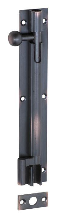 Offset Barrel Bolt - Antique Copper - 150mm x 25mm