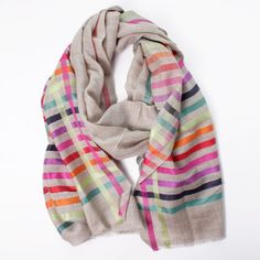 Wool/Silk Scarf Beige/Pink now featured on Fab.