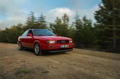 All the way with me. #automotive #photography #red #nature #road #forest #sunlight #carphotography #audi #quattro #s2
