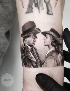 Casablanca fine line realistic tattoo © tattoo artist Zlata Kolomoyskaya 💙💙💙💙💙💙 Cool Arm Tattoos, Arm Sleeve Tattoos, Cute Tattoos, Body Art Tattoos, Portrait Tattoos, Tatoos, Ink Master Tattoos, Tattoo Designs, Delicate Tattoo