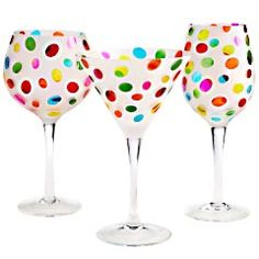 Color Dots Stemware