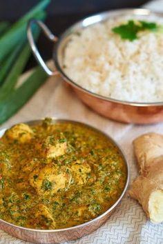 Palak Chicken - indisches Curry mit Hühnchen und Spinat