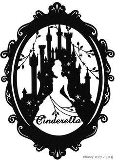 Deco Disney, Disney Love, Disney Art, Kirigami, Disney Silhouette Art, Cinderella Silhouette, Silhouette Images, Disney Font Free, Plastic Canvas Tissue Boxes
