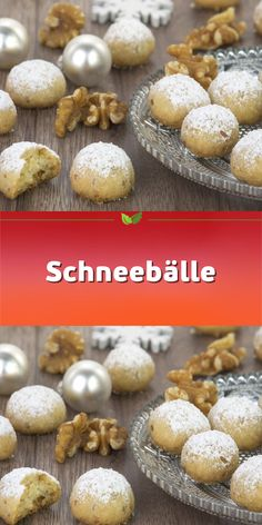 SnowballsSnowballs - Walnut Cookies Quick cookies for Christmas with nuts for 60 pieces - Kekse & Plätzchen Rezepte - Weihnachten Quick Cookies, Paleo Cookies, Chip Cookies, Galletas Paleo, Walnut Cookies, Vegan Meal Prep, How To Eat Paleo, Eating Plans, Quick Meals