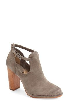 The chunky heel of this fun little bootie makes these perfect for the office!