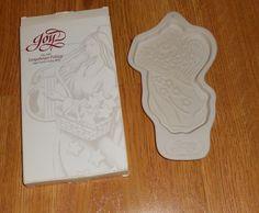 Longaberger Pottery 1996 Angel Cookie Mold Joy Recipe Holiday Christmas Baking #longaberger