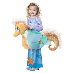 Kids Seaquestrian Mermaid Rider Costume, Girl's, Silver