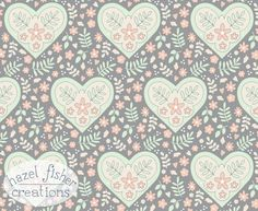 Spoonflower+Contest+Limited+Colour+Palette+Hearts+and+Flowers+grey+cream+cucumber+and+peach+Hazel+Fisher+Creations.jpg (590×483)