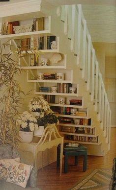 Stair shelving...genius!