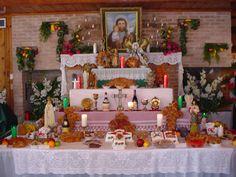 History of the St. St Joseph Feast Day, St Joesph, St Josephs Day, Saints Days, Home Altar, Blessed Virgin Mary, Christmas Stockings, Catholic, Altars
