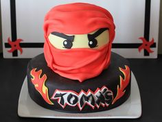 Ninjago Birthday Cake - Kai - Red Ninja
