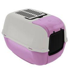 Toilet Home Prima Cabrio Violeta Ferplast - Meuamigopet.com.br #cat #cats #gato #gatinho #bigode #muamigopet