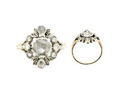 georgian rose-cut engagement ring