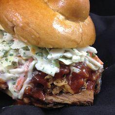 Mesquite Smoked Pork Butt and Beef Brisket Sandwich | Food & Wine