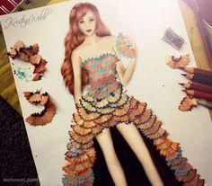 pencil shavings art. Read Full article: http://webneel.com/daily/pencil-shavings-art | more http://webneel.com/daily . Follow us www.pinterest.com/webneel