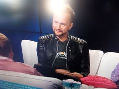 The lovely Mikko Silvennoinen wore my 'Eurovision is my Boyfriend' t-shirt on Finnish TV yesterday - doesn't he look fabulous? #chuffed #proud  Available on all the usual tees sweats mugs etc from Redbubble:  http://ift.tt/1SY9dBT - http://ift.tt/1HQJd81