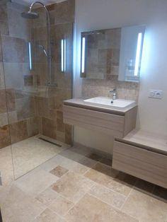 Les 86 meilleures images de Salle de bain travertin | Salle ...