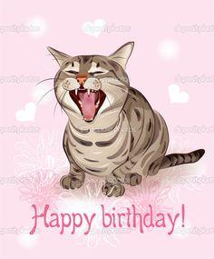 Free Happy Birthday Cat Greetings