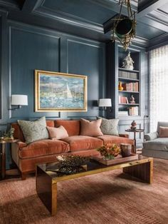 I love the dark walls and mood it sets in the space | Bedroom Colors And Moods | Bedroom Colors And Moods | Master Bedroom Paint Colors 2017 | Color Scheme For A Bedroom. #architecture #Details and vignettes