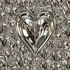 Picture of big bright beautiful silver heart on heart background stock photo, images and stock photography. Silver Glitter, Silver Color, Metallic, Heart Background, Color Plata, Silver Lining, Amber Rose, Heart Shapes, Jitter Glitter