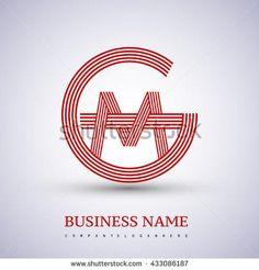 Letter GM or MG linked logo design circle G shape. Vector logo design template elements for company identity. G Logo Design, Lettering Design, Monogram Logo, Monogram Initials, Mg Logo, Oval Logo, Letter Logo, Business Names, Logo Branding
