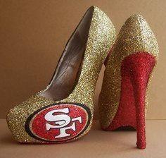 San Francisco Glittered High Heels by TattooedMary c0c90461e