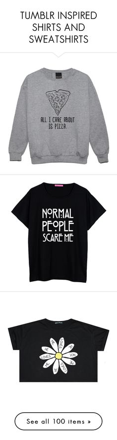 """""""TUMBLR INSPIRED SHIRTS AND SWEATSHIRTS"""" by horanoverniall ❤ liked on Polyvore featuring tops, hoodies, sweatshirts, sweaters, shirts, black, women's clothing, grunge shirts, black sweatshirt y star print shirt"""
