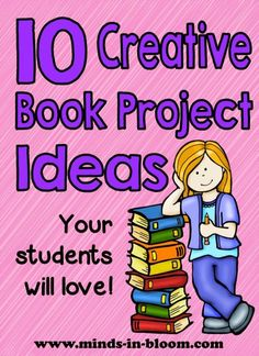 If you're looking to spice up your book report assignments, then this is the list for you. Rachel shares 10 creative book report ideas that won't have your students begging for another project type! Book Report Projects, Reading Projects, Book Projects, Project Ideas, Reading Strategies, Reading Activities, Teaching Reading, Reading Comprehension, Centre De Documentation