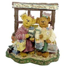 Boyds Bears Resin Pam & Kristi Shopsalot...What A Bargain Figurine