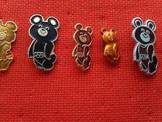 Misha Bear Olympics Moscow 1980 Olympic Games by PinsParadise