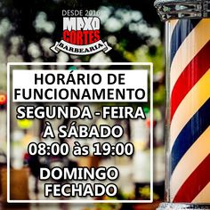 NOVO HORÁRIO DE FUNCIONAMENTO: MAXO CORTES BARBEARIA! Barber shop Photo And Video, Top, Instagram, Barber, How To Make Crafts, Ideas, Crop Shirt, Shirts