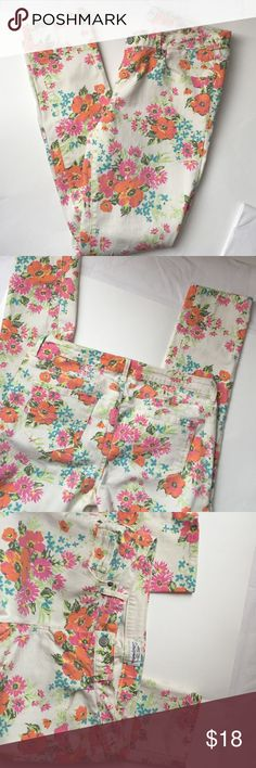 Floral Skinny Jeans! Ultra Skinny Floral Jeans! Aeropostale bright floral jeans! Excellent condition! Size 13/14 regular! 98% cotton 2% spandex. Inseam 31 inches. Aeropostale Jeans Skinny