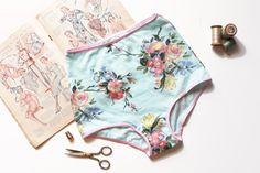 Seriously, handmade undergarments have been on my list for quite a while! High Waist Panties Sewing Pattern by OhhhLuluSews