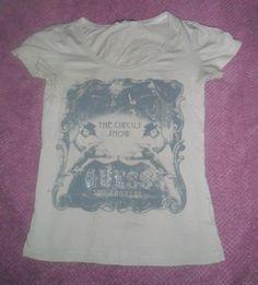 t shirt guess / Blanc, blanc cassé, écru / 36 (S, T1) FR / Coton / Printemps - Été