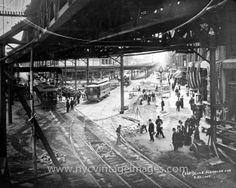 Fulton Street and Flatbush Avenue, Brooklyn, 1908.