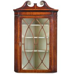 George III Period Mahogany Corner Cupboard | From a unique collection of antique and modern cupboards at http://www.1stdibs.com/furniture/storage-case-pieces/cupboards/