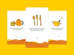 Walkthrough Screens for Kitchen iOS App