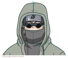 How to Draw Shino Aburame from Naruto step by step