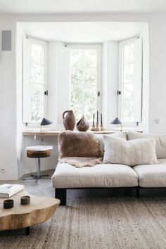 white and neutral living room style