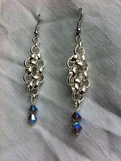 Silver sparkle earrings by IronLaceDesign on Etsy
