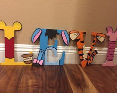 Winnie the Pooh Inspired Letters Winnie The Pooh Nursery, Winnie The Pooh Birthday, Baby Boy 1st Birthday, Mom Birthday Gift, Birthday Care Packages, Baby Shower Fun, Baby Boy Rooms, Baby Crafts, Future Baby