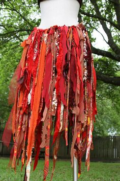 rag skirt - This would be super easy to make and really fun for a festival or costume.