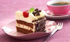 Mascarpone-Torte mit Früchten                              -                                  Cremige Torte mit Früchten