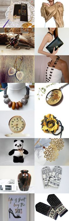 Golden Gift Ideas by Linda Karen on Etsy--Pinned with TreasuryPin.com
