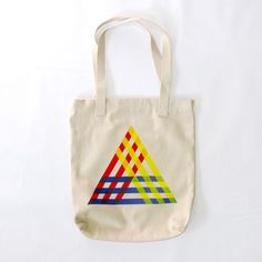 Primary Triangle Tote  by Jessalin Beutler