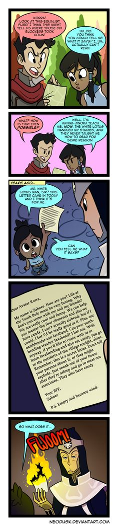 LoK: Un-Literate by Neodusk.deviantart.com on @DeviantArt