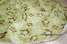 Cute Sea Turtle Fabric Cotton Linen Fabric Japanese by fabricmade