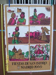 CARTEL DE FIESTAS DE SAN ISIDRO 1969 SE VENDE TAL COMO SE OBSERVA EN LAS FOTOGRAFIAS - Foto 1