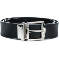 Burberry Reversible London Check belt ($371) ❤ liked on Polyvore featuring men's fashion, men's accessories, men's belts, black, burberry mens belt, mens leather accessories, mens real leather belts, mens reversible leather belt and mens genuine leather belts